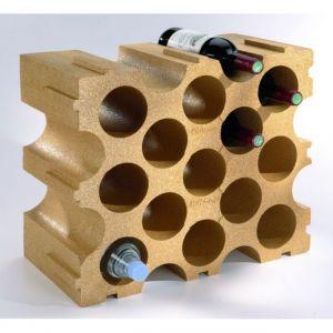 Mottez Casier 15 bouteilles empilable polystyrene