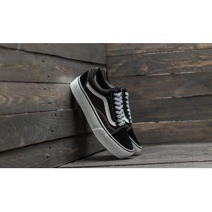 Vans Old Skool Platform, Baskets Femme, Noir (Black/White Y28), 40 EU
