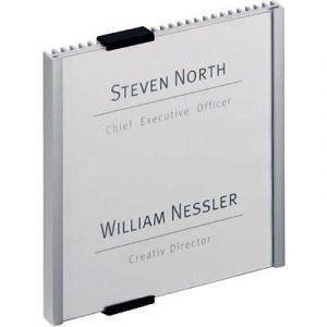 Durable 4802-23 - Plaque de porte CRYSTAL SIGN, (L)149 x (H)149 mm