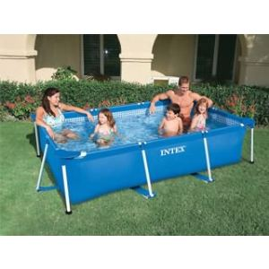 Intex 58980FR - Piscine hors sol tubulaire rectangulaire Metal Frame 260 x 160 x 65 cm