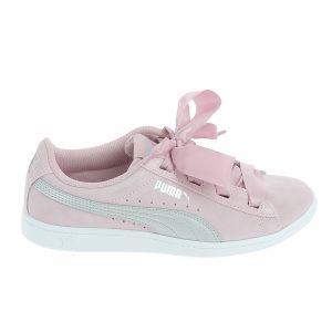 Puma Vikky Ribbon Jr, Sneakers Basses Fille, Rose (Pale Pink Silver), 37 EU