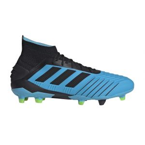 Adidas Predator 19.1 FG, Chaussures de Football Homme, Bleu Bright Cyan/Core Black/Solar Yellow, 42 EU