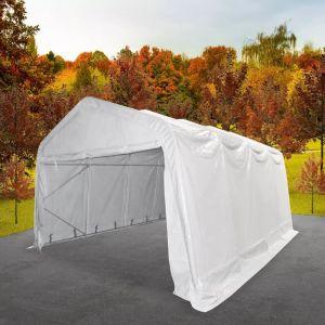 VidaXL Tente de rangement PVC 4 x 8 m Blanc