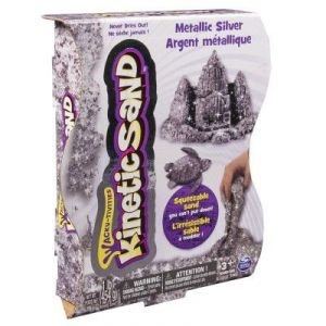 Spin Master Kinetic Sand : sable argent effet scintillant