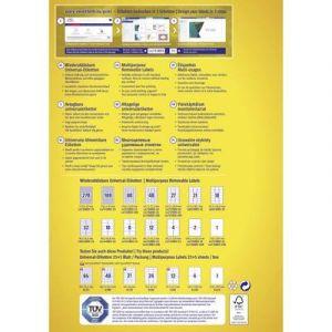 Avery-Zweckform L4732REV-10 - 800 étiquettes enlevables Laser blanc, format 35,6 x 16,9 mm (10 feuilles / cdt)