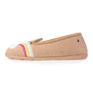 Isotoner Chaussons slippers lama femme Beige