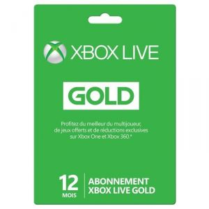 Microsoft Carte Abonnement Xbox Live Gold 12 mois