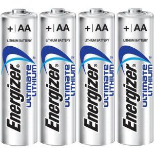 Energizer Lithium 4 piles AA LR6