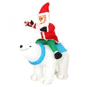 Père Noël gonflable lumineux Virgile