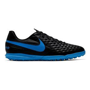 Nike Chaussures de football pour terrain synthétique Tiempo Legend 8 Club TF Noir / Bleu - Taille 40