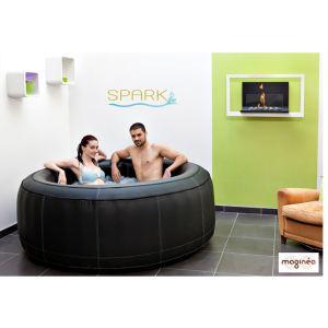Spark SPARK03 - Spa gonflable luxe en cuir pour 4 personnes 800 litres