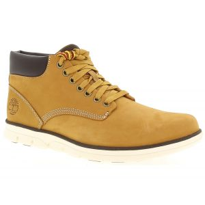 Timberland Bradstreet Leather Sensorflex, Bottes Chukka Homme, Jaune (Wheat Nubuck), 45 EU