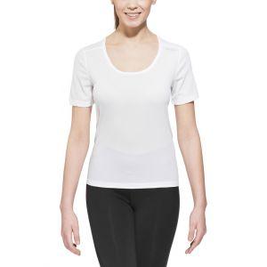 Odlo T- MC Cubic T- T-Shirt Manches Courtes Femme, Blanc, FR : S (Taille Fabricant : S)