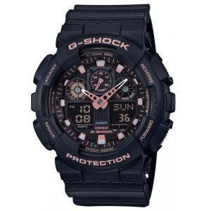 Casio Montre G-Shock Black & Gold GA-100GBX-1A4ER - Montre Multifonctions Résine Noir Mixte