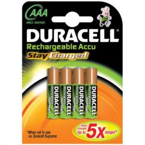 Duracell Blister de 4 piles rechargeables StayCharged AA