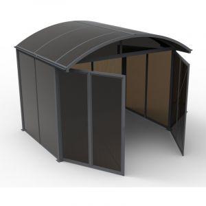 Abri de Jardin Aluminium Fermé Polycarbonate Anthracite - 7.2 m²