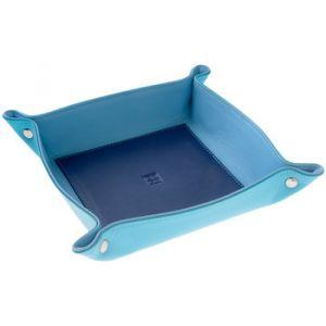 Dudu Vide-Poches Multicolore en Cuir Souple pour la Maison Bleu