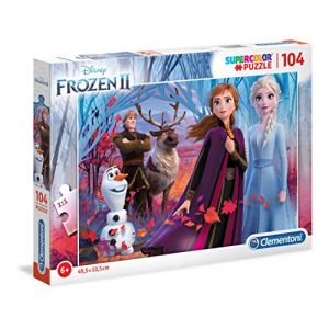 Clementoni Supercolor - Puzzle Enfant - La Reine des Neiges 2 - 104 Pièces
