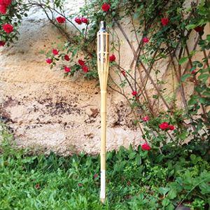 Favorit Torche bambou avec réservoir H 1,20 m