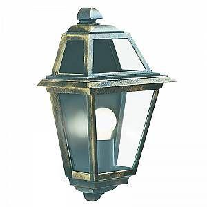 Searchlight Applique New Orleans, en aluminium et verre, noir doré