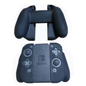 Straße Game Housse Silicone Manette de Protection pour Joy-Con de Nintendo Switch - Noir