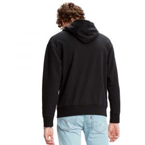 Levi's Relaxed Graphic Hoodie Sweat-Shirt, Noir (Boxtab Pop Mineral Black 0023), Large Homme