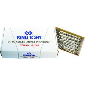 King tony 1926MR - Jeu de 26 clés à pipe 6 à 32 mm 6x6 pans