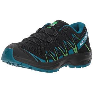 Salomon XA Pro 3D J, Chaussures de Trail Running, Mixte Enfant Noir (Black/Deep Lagoon/Onlime Lime)39 EU