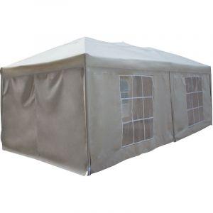Happy Garden Tente de réception MISTRAL pliante 3x6m Beige avec panneaux