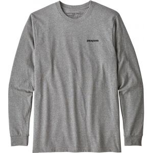 Patagonia T shirt manches longues p 6 logo responsibili tee gris s