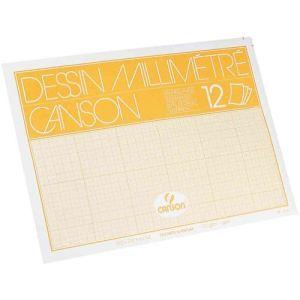 Canson 12 feuilles de papier millimétré A4 90 g/m2