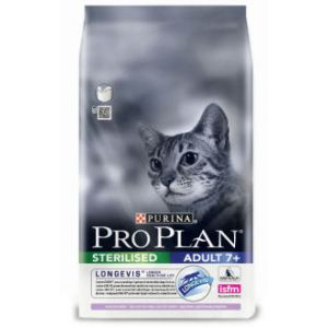 Purina Croquettes pour Chats Pro Plan Adulte Sterilised 7+