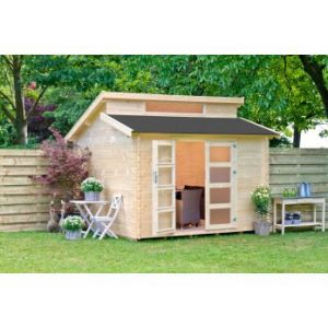 Outdoor Life Products Benno - Maisonnette en bois 28 mm 7,50 m2