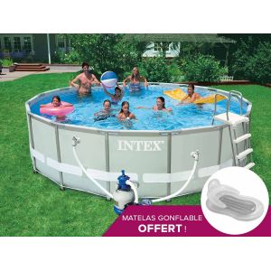 Intex 54924FR - Piscine tubulaire ronde 4,88 x1,22 m