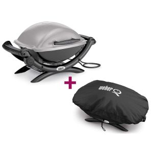 Weber Q 1400 - Barbecue électrique + Housse