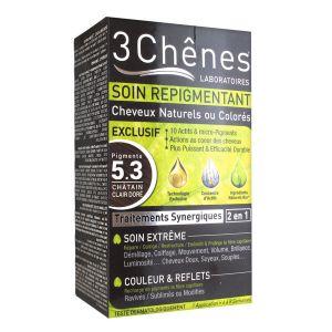 3 Chênes Soin repigmentant cheveux naturels ou colorés - 5.3 châtain clair doré