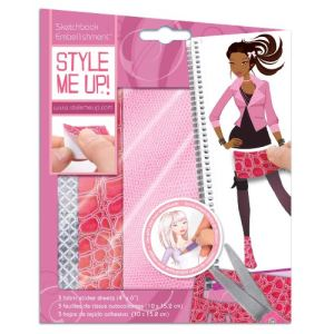 "Buki France 1482 - Carnet d'esquisses ""Stickers cuir rose"" Style me up!"