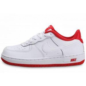 Nike Force 1 Blanc Rouge Enfant 32 Baskets