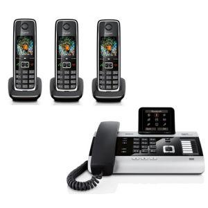 Gigaset DX800A Quatro - Téléphone fixe avec 3 combinés C530H