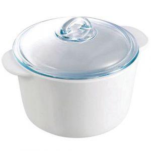 Pyrex Cocotte Ronde 16 cm Avec Couvercle 1 L blanche*