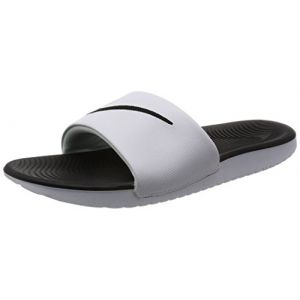 Nike Kawa Slide (GS/PS), Tongs Garçon, Blanc (White/Black 100), 40 EU