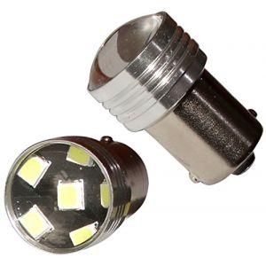 Aerzetix : 2x ampoule 24V P21W R10W R5W 6LED SMD blanc effet xénon pour camion semi-remorque porte de garage portail