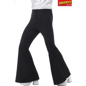 Smiffys Pantalon à pattes d'éléphant, homme, noir
