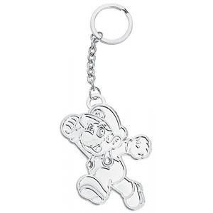 Super Mario Bros - Porte-Clés Silver Mario Métal