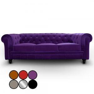 Canape velours violet - Comparer 107 offres