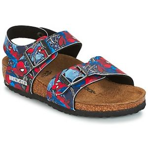 Birkenstock New York, Sandales Bride Arriere Garçons, Bleu (Marvel Multicolore Spiderman Action Blue Marvel Multicolore Spiderman Action Blue), 34 EU