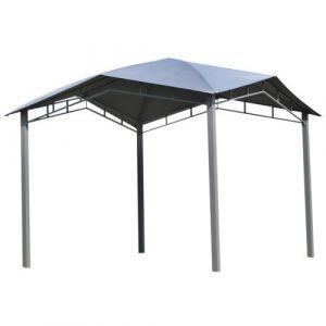 Outsunny Tonnelle barnum contemporain en dôme dim. 3,00L x 3,00l x 2,60H m métal époxy polyester gris