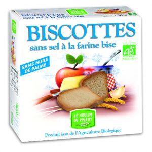 Biscottes sans sel bio à la farine bise 270 g
