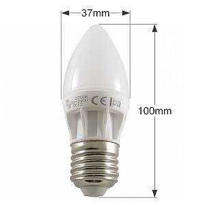 Superled Ampoule LED E27 Bougie C30 5W 400lm 270° Blanc Chaud 2700K | Blanc Chaud (2700K) -