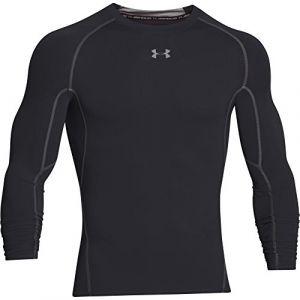 Under Armour Under Armour Armour Hg T-Shirt manches longues de compression Homme Noir/Acier FR : L (Taille Fabricant : LG)